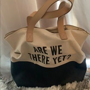 Kate Spade x Gap blue and white tote